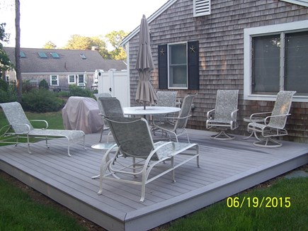 Harwich Cape Cod vacation rental - Large Deck