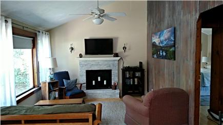 Historic Dennis Village Cape Cod vacation rental - Living Room with HDTV & WiFi