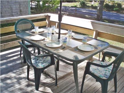 Mashpee, Popponesset Cape Cod vacation rental - Dining on the deck
