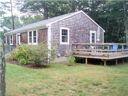 Mashpee, Popponesset Cape Cod vacation rental - Relax on the Deck, Perfect for Dining Outside (seats 6-8)