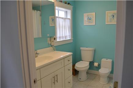 Brewster Cape Cod vacation rental - 2nd Floor Bath with Child's toilet Tub/Shower