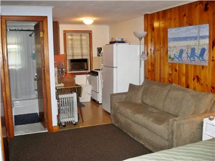 Dennis Cape Cod vacation rental - Living room to kitchen and bathroom