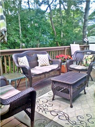 South Dennis Cape Cod vacation rental - Deck seating area and outside dining