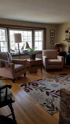 South Dennis Cape Cod vacation rental - Living room with TV and cable, stereo & wifi