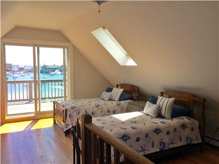 Woods Hole Woods Hole vacation rental - Third floor twin bedroom with slider to upper deck & water views.