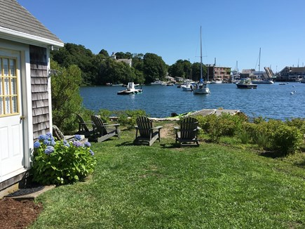 Woods Hole Woods Hole vacation rental - Rear garden water front view of Eel Pond and dock