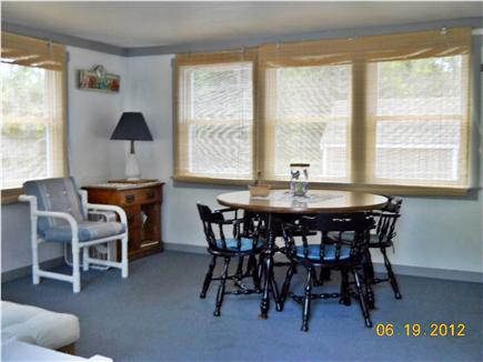 North Eastham Cape Cod vacation rental - Porch with additional seating for meals/games, sectional sofa
