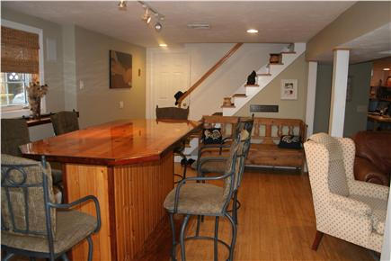 Mashpee Cape Cod vacation rental - High table in walkout basement for dinning and playing games