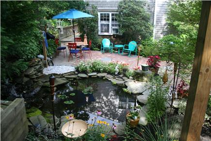 Mashpee Cape Cod vacation rental - Pond, Garden and Patio for dining, wining and entertainment!