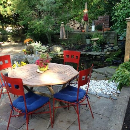 Mashpee Cape Cod vacation rental - Patio Garden