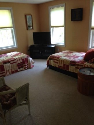 Mashpee Cape Cod vacation rental - Bedroom with 2 twins and flat screen TV