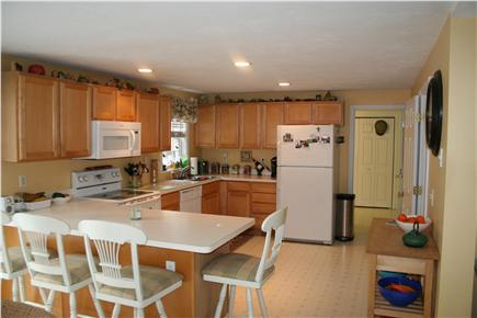 Mashpee Cape Cod vacation rental - Open kitchen with countertop to seat 4 for lunch or dinner.