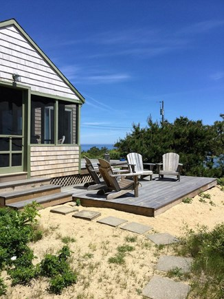 South Wellfleet Cape Cod vacation rental - Comfortable seating on the deck with great Ocean views