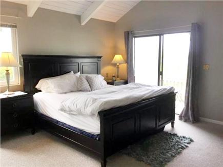 East Falmouth Cape Cod vacation rental - Master - king bed, private bath, back deck and water view - tv