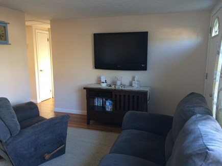 West Yarmouth Cape Cod vacation rental - Living room w/ flat screen T.V.