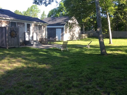 West Yarmouth Cape Cod vacation rental - Newly landscaped backyard with patio and new enclosed shower