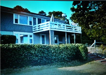 Harwich Cape Cod vacation rental - Back deck with walk out family room on lower level