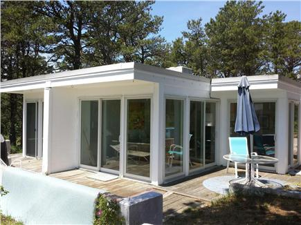 Wellfleet Cape Cod vacation rental - Front view and wrap-around deck