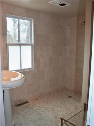 North Chatham Cape Cod vacation rental - Blue Room Guest Bathroom Shower