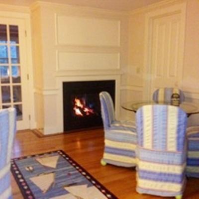 North Chatham Cape Cod vacation rental - Fireplace In Dining Room