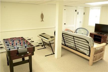 Chatham Cape Cod vacation rental - Game Room with large HD TV,  Laundry and Full Bath