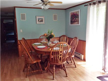 Harwich Cape Cod vacation rental - Dining area with slider to deck