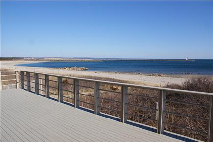 Sandwich Cape Cod vacation rental - OCEANVIEWS from upper level deck over Cape Cod Bay.