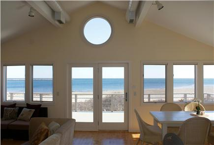 Sandwich Cape Cod vacation rental - Upper level with open LR/DR/Kitchen offers ocean views.