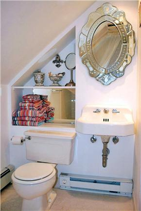 East Sandwich Cape Cod vacation rental - Pretty 2nd Floor Bath with tub/tiled shower combo-sloped ceiling.