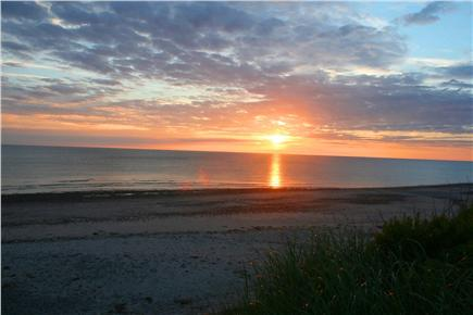 East Sandwich Cape Cod vacation rental - A beautiful sunrise on our beach.