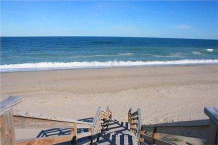 East Sandwich Cape Cod vacation rental - Walk down to the private beach from our stairs.