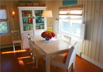 East Sandwich Cape Cod vacation rental - Enjoy an intimate meal or comfortably seat 6 at our dining table.