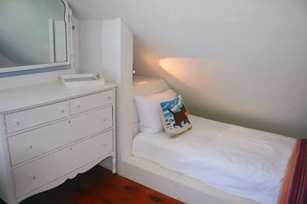 East Sandwich Cape Cod vacation rental - Cozy built in Twin bed in upstairs Queen bedroom