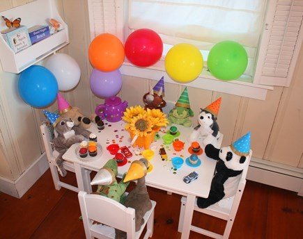 East Sandwich Cape Cod vacation rental - Tea Party with dinosaurs and friends anyone ?