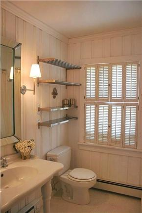 East Sandwich Cape Cod vacation rental - Master Bath- walk-in tiled shower with rainfall showerhead & seat
