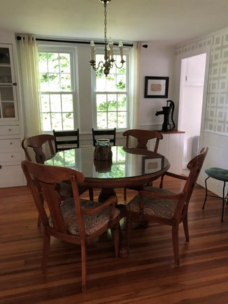 Centerville Centerville vacation rental - Dining Room, complete with original water pump in the corner!