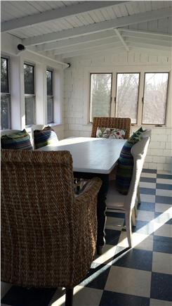 Centerville Centerville vacation rental - Rear 3 season porch, steps from gas grill on patio #2!