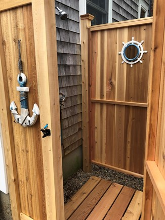 Dennis Port Cape Cod vacation rental - New Outdoor Shower - a must for true Cape Codders