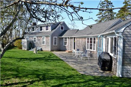 Chatham Cape Cod vacation rental - Rear of House, Deck, Gas BBQ, Hammock,Private fenced in Yard