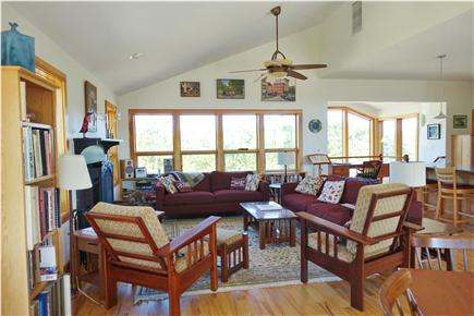Wellfleet Cape Cod vacation rental - The upper level is an open and airy kitchen/living/dining area