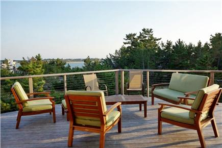 Wellfleet Cape Cod vacation rental - Deck, with furniture and view.