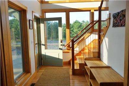 Wellfleet Cape Cod vacation rental - Light-filled entryway.