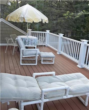 West Harwich Cape Cod vacation rental - Second story deck (off Master Suite)