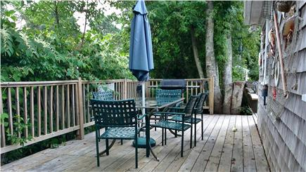 So. Yarmouth Cape Cod vacation rental - 2nd outdoor  deck with table and 6 chairs (private) GAS BBQ