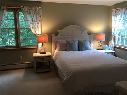Falmouth Cape Cod vacation rental - Queen bedroom with cottage style furniture & flat screen tv