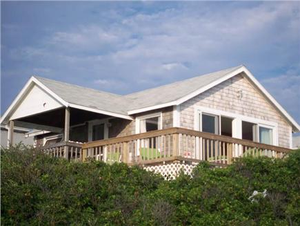 North Truro Cape Cod vacation rental - Cottage facing the ocean high up on the bluff