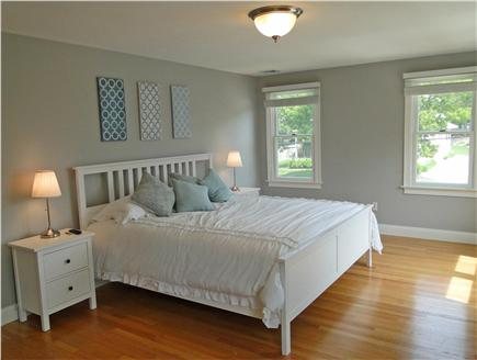 Mashpee, Popponesset Cape Cod vacation rental - King sized Master bedroom upstairs with flatscreen TV