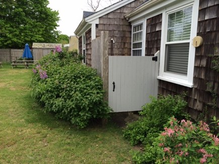 Dennisport Cape Cod vacation rental - Outdoor shower, hot and cold water.