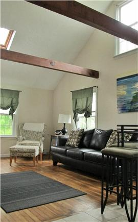 Dennisport Cape Cod vacation rental - Sunny, airy living room in the smaller house
