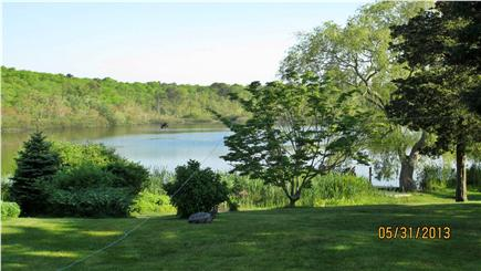 Hyannisport Cape Cod vacation rental - View of pond from back patio